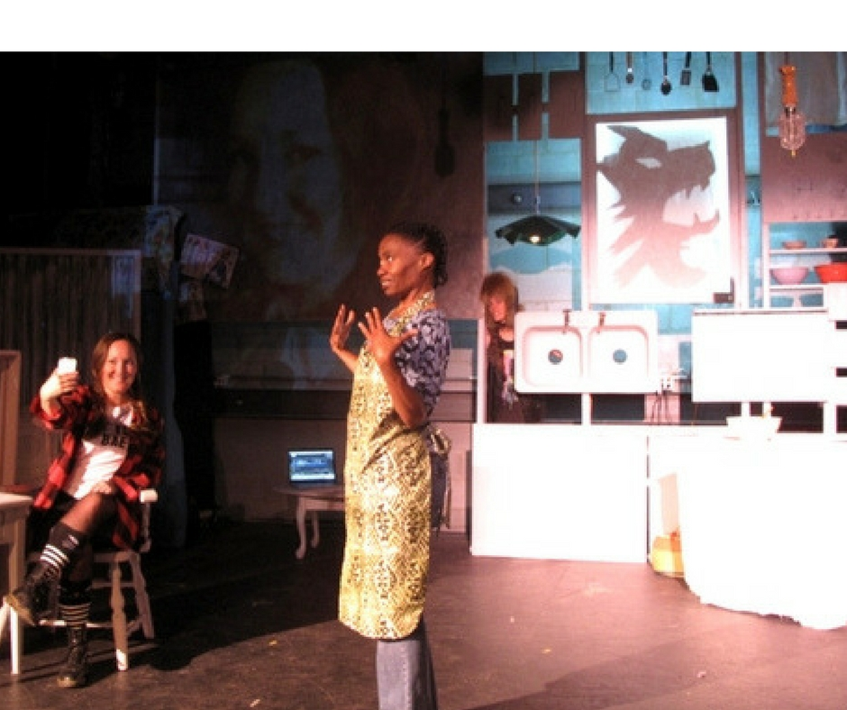 Julia Cunningham, Tippin and Daniele Martin in The Little Red Riding Hood Show from Asheville Creative Arts