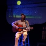 Jonathan Santos sings about how he's lonely on the pond and would like some friends in Click, Clack, Moo from Asheville Creative Arts, professional theatre for young audiences